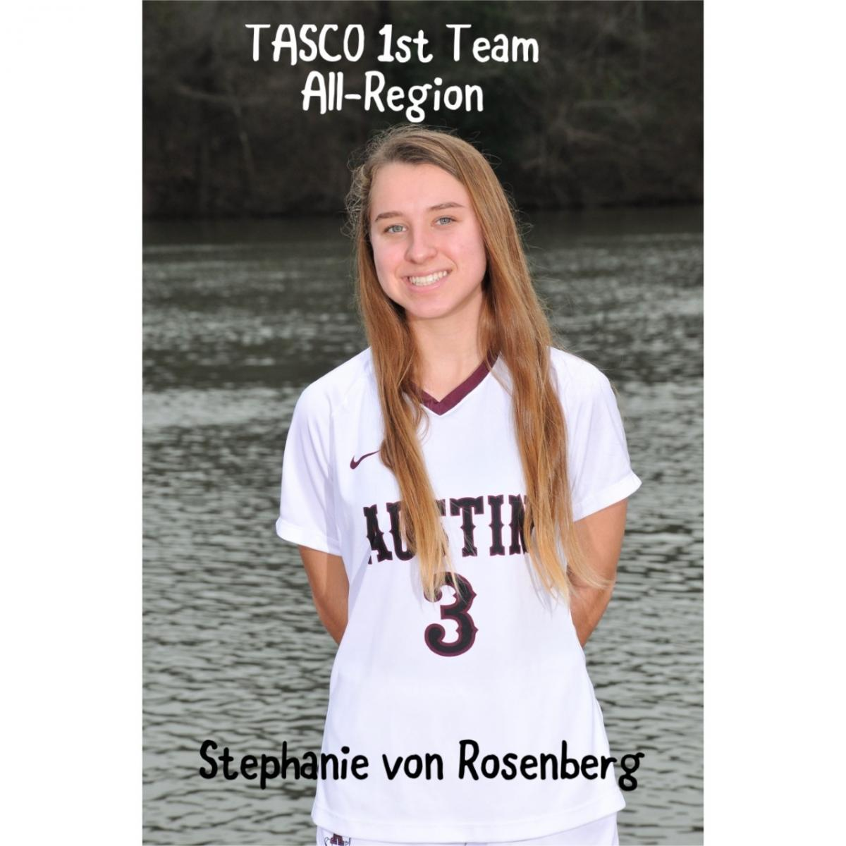 Stephanie von Rosenberg named to TASCO All-Region Team