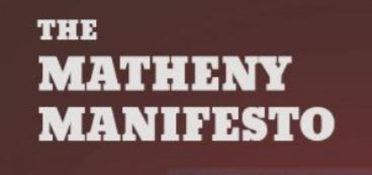 THE MATHENY MANIFESTO - Definately worth the few minutes to read.